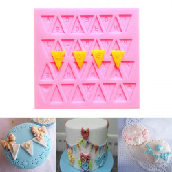 3D Flag Shape 26 English Letters Mould Silicone Fondant Cake Mold