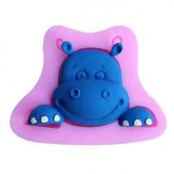 3D Hippo Silikon Fondant Choklad Polymer Clay Form
