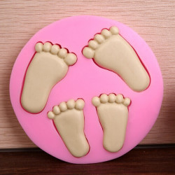 3D Little Baby Feet Silicone Fondant Mold Chocolate Soap Mould