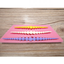 3D Pärlhalsband Silikon Fondant Kaka Dekoration Form