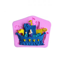 3D Ship Boat Silicone Fandant Mold Chocolate Polymer Clay Mould