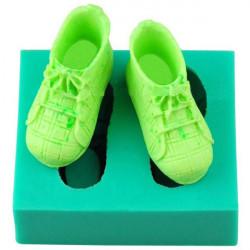 3D Silikon Baby Schuhe Kuchen Form Fondant Seifen Form