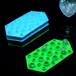 3D Silikon Diamant Würfel Eis Behälter Form Schokoladen Form