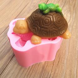 3D Sköldpadda Groda Silikon Fandant Choklad Tvål Utstickare
