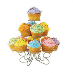 3 Layers Iron Cake Stand 13 Cupcake Holder Cup Tray