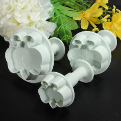 3Pcs Bee Cutter Cake Mould Cookies Fondant Soap Decorating Mold