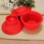 3 Pcs Big Top Cupcake Pan Giant Silicone Molds Baking Set Kitchen,Dining & Bar