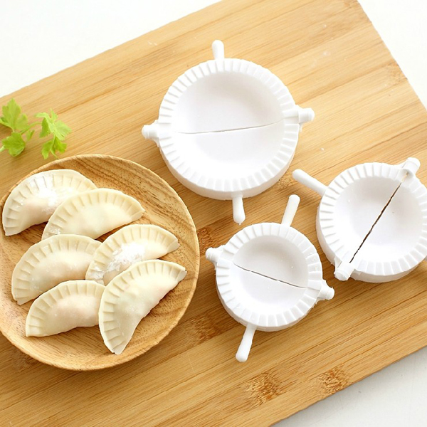 3stk Kinesiske Dumplings Dej Press Omsætning Ravioli Værktøj Form Maker Køkken