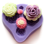 4 Different Sizes Roses Fondant Cake Decorating Mold Kitchen,Dining & Bar