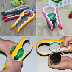 4 In 1 Multi-size Jar Glass Lid Bottle Cap Opener Twist Kitchen Tool