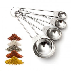 4Pcs Stainless Steel Kitchen Measuring Spoon Seasoning Powder Spoons