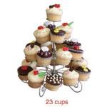 4 Tiers Metall Kakan Stå 23 Muffin Hållare Tårta Träd Kök