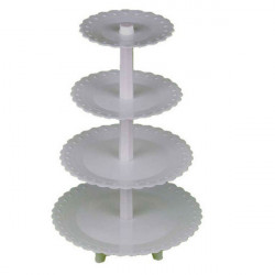 4 Tiers Plastic Tårta Ställ Detachable Cupcake Hållare Dessert Shelf