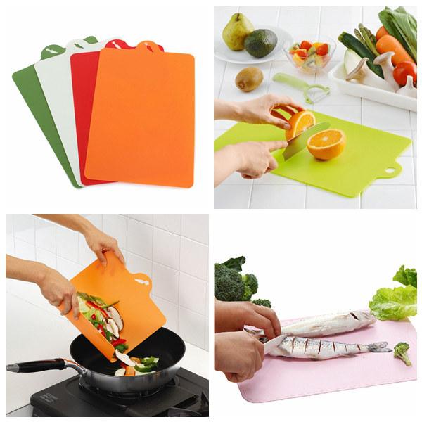 4X Antibacterial Flexible Cutting Board Chopping Mat Kitchen,Dining & Bar