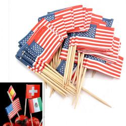 50stk Geburtstags Party amerikanische Flagge USA Kuchen Deckel