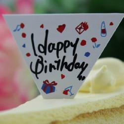 50 St Födelsedagen Kaka Cupcake Insert Card Tårta Toppers Dekoration