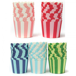 50pcs Cupcake Baking Paper Stripe Muffin Cup Home Wedding Party