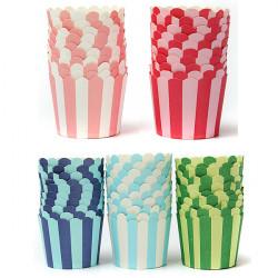50stk Kuchen Backen Papier Streifen Muffin Cup Home Hochzeit