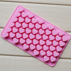 55 Cells Heart Silicone Cake Mold
