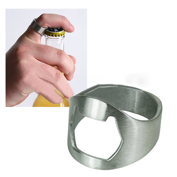 5Pcs Stainless Steel Finger Ring Bottle Opener Bar Beer Tool Kitchen,Dining & Bar