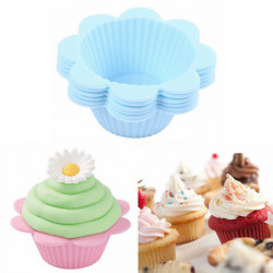 6 st Blomma Form Silikon Muffin Kopp Cupcake Form