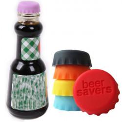 6stk Silicon Bunte Flaschenverschluss Saver
