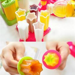 6stk DIY Eiscreme Gefrorene Popsicle Formblock Juice Lolly Fach