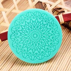 7cm Fondant Kuchen runde Spitze Silikon Form Zucker Kunst Werkzeuge