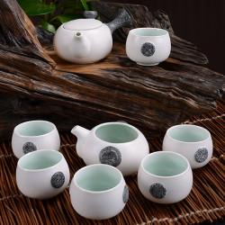 8 stk Schnee Glasur Keramik Kung Fu Tee Set mit Geschenk Box