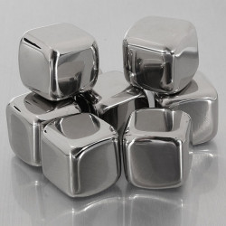 8Pcs Stainless Steel Whisky Stones Cube Glacier Whiskey Rocks