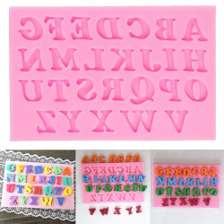 Alphabet Letters Silicone Fondant Cake Mould Chocolate Sugar Mold