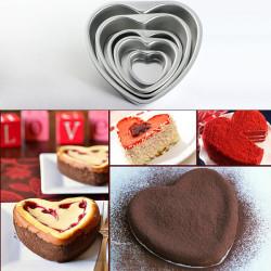 Aluminium Heart Shaped Fondant Cake Mold Chocolate Mould Wedding Gift