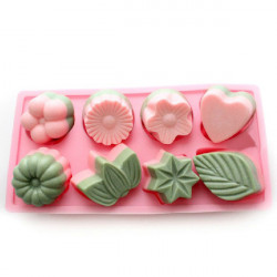 B0140 Silicone Flower Love Leaf Cake Mould Fondant Soap Mould