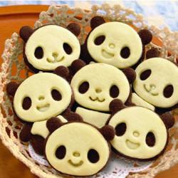 Bake Form Sød Panda Kage Form Cookie Biscuit Fondant Mould