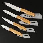 Bamboo Handle kitchen White Blade Ceramic Knife Set Fruit Knife Kitchen,Dining & Bar