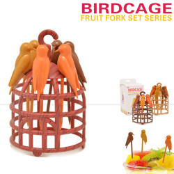 Birdcage Fruit Fork Birds Fork Cutlery