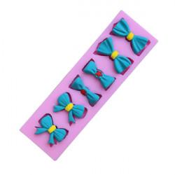 Fluga Bowknot Silikonform Fondant Tårta Utstickare Choklad Clay Form