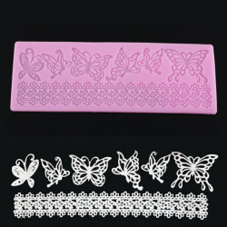 Butterfly Lace Fondant Cake Mould Chocolate Craft Mold Silicone Tools