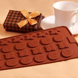 Carving Blomma Silikon Kaka Dekoration Choklad Tvål Utstickare