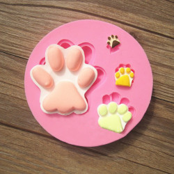 Cat Bear Paw Silicone Fondant Mold Chocolate Polymer Clay Mould