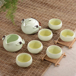 China Kung Fu Tea Special-purpose Ding Kiln Porcelain Tea Ware Set