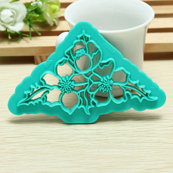 Christmas Cake Decorating Fondant Tools Cake Rose Flower Cutter