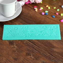 Christmas Silicone Fondant Lace Mold  Bell Candy Cane Candle Sock