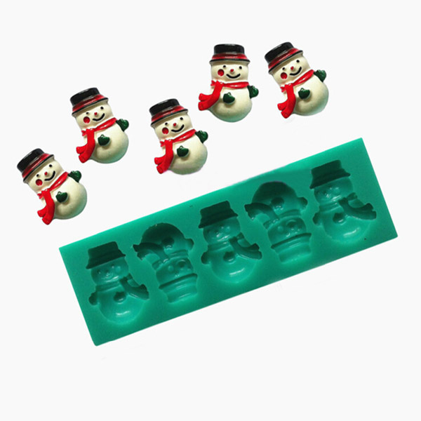 Christmas Snowman Silicone Chocolate Jelly Cake Mold Kitchen,Dining & Bar