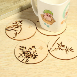 Coffee Tea Drink Mug Wooden Cup Mat Hollow Out Cup Pad