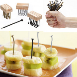 Cool Nails Shape Fruit Fork Reusable Party Picks