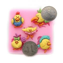Crazy Birds Silicone Fondant Cake Mold Decorating Tools DIY Chocolate