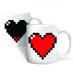 Creative Keramisk Love Hjerte Coffee Kop Sensitive Farveskiftende Krus