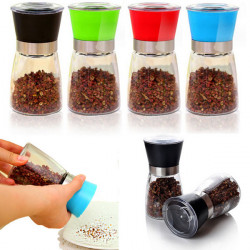 Creative Cruet Manual Pepper Grinder Kitchen Supplies Polished Tank