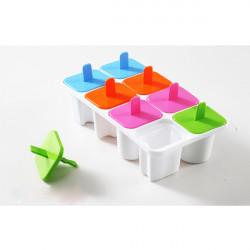 Creative Würfel Behälter Eiscreme Form Cassette Acht Grids